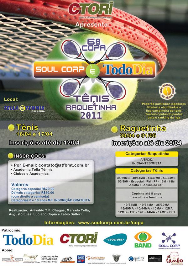 Cartaz Torneio de Tênis Tella Tennis 2011 - Tella Tennis a7b1c10f9fff8